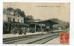 CPA  91 :  MONTGERON   La Gare Animée    A   VOIR   !!!! - Montgeron