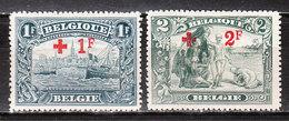 160/61*  Croix-Rouge - 2 Bonnes Valeurs - MH* - LOOK!!!! - 1918 Red Cross