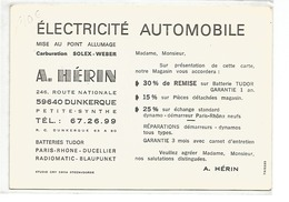 PETITE SYNTHE GARAGE COMMERCE A HERIN ELECTRICITE AUTOMOBILE VOITURE AUTO VOIR SCANS - Other Municipalities