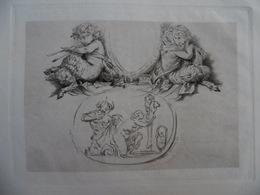 GRAVURE SIGNE CHAMPOLLION D APRES CLODION DEL - Engravings