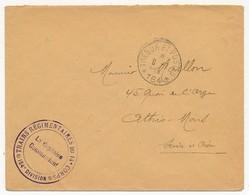 """Enveloppe - Cachet """"Trains Régimentaires Du 14eme Corps - 154eme Division"""" - Trésor Et Postes 164 - 1915 - Postmark Collection (Covers)"""