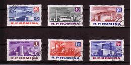 451a * RUMÄNIEN * 6 DIVERSE BAUTEN * GESTEMPELT **!! - 1948-.... Republiken