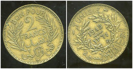 TUNISIE TUNISIA 2 Francs 1945 - Tunisie