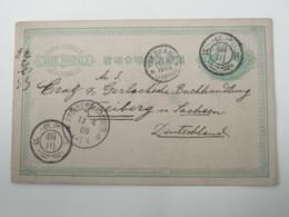 JAPAN , Ganzsache 1888 Nach Deutschland Von Der Insel Sado - Japan