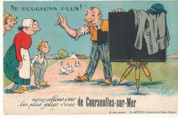 14 // COURSEULLES SUR MER     Carte A Système,  Ne Bougeons Plus....; Photographe - Courseulles-sur-Mer
