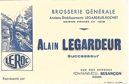 BUVARD  Ville, Brosserie  Générale  Alain  LEGARDEUR, Rue Des Brosses  FONTAINE - ECU - BESANÇON ( 25 ) - Buvards, Protège-cahiers Illustrés