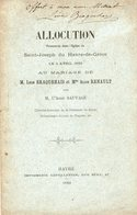 LE HAVRE // Allocution Du Mariage De L BRAQUEHAIS ET A RENAULT // Lot 204 - Normandie