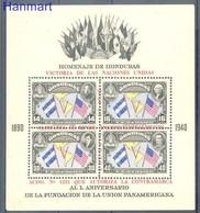 Honduras 1945 Mi Bl 2 MNH ( ZS1 HNDbl2dav89B ) - Honduras