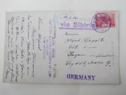 JAPAN , Manschurei , MOUKDEN  1936, Ansichtskarte Bahnhof Mit Zug Nach Deutschland - 1926-89 Kaiser Hirohito (Showa Era)