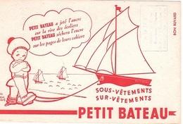 BUVARD  Marque  Sous - Vêtements  Et  Sur - Vêtements  PETIT  BATEAU - Collections, Lots & Séries