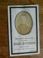 JENLAIN +MILITARIA :SOUVENIR DE DECE DE CELESTIN DUTORDOIR 1857-1885 - Images Religieuses