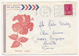 """FRANCE / POLYNESIE => Enveloppe Imprimée """"Tahiti"""" + OMEC """"Poste Aux Armées ** """" 1977 - Marcophilie (Lettres)"""
