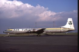 SLIDE / AVION / AIRCRAFT   KODAK  ORIGINAL    AER TURAS  CL 44  EI-BRP - Diapositives