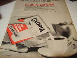 ANCIENNE AFFICHE  PUBLICITE  LAIT  GLORIA ECREME  1965 - Affiches