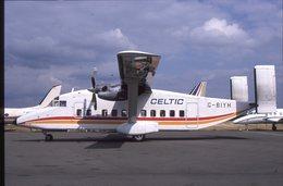 SLIDE / AVION / AIRCRAFT   KODAK  ORIGINAL  CELTIC  SHORT 330  G-BIYH - Diapositives