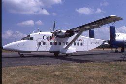 SLIDE / AVION / AIRCRAFT   KODAK  ORIGINAL  GILL AIR   SHORT 330  G-RNMO - Diapositives