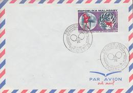 Enveloppe  FDC   1er  Jour    MADAGASCAR   Tournoi  De  TENNIS   De  Table   à  PEKIN   1974 - Madagascar (1960-...)