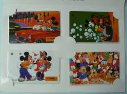 SINGAPORE - Telecom - GPT - Kodak Disney 1994 - Mickey Mouse - 11SFUA To D - Set Of 4 - Mint In Folder - Singapore