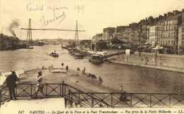 NANTES  Le Quai De La Fosse Et Le Pont Transbordeur Vue Prise De La Petite Hollande RV - Nantes