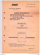 SNCF Manuel De Conduite Des Rames Réversibles Inox Mono Et Diesel 1981 - Chemin De Fer