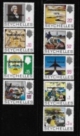 Seychelles 1976 QE Overprinted & Surcharged Independence 9v MNH - Seychelles (1976-...)