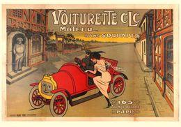 Car Automobile Postcard Voiturette CLC 1905 - Reproduction - Pubblicitari