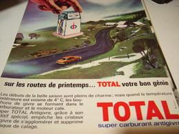 ANCIENNE   PUBLICITE VACANCE TOTAL LES ROUTES DE PRINTEMPS 1965 - Autres