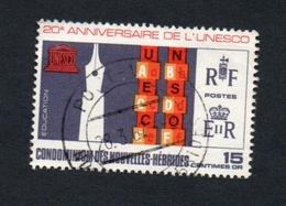 1966 UNESCO New Hebrides 15c Yvert Tellier No. 249 Timbre Usagee, Sans Charniere - Légende Française