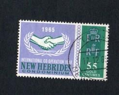 1965 ILO LABOUR New Hebrides 55c Yvert Tellier No. 225 Timbre Usagee, Sans Charniere - Légende Anglaise