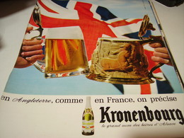 ANCIENNE PUBLICITE BIERE KRONENBOURG 1965 - Alcools