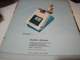 ANCIENNE PUBLICITE CIGARETTES ARIEL 1965 - Tabac (objets Liés)