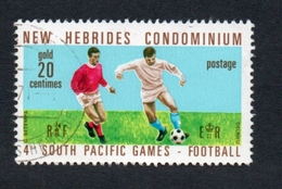 1971 4TH SOUTH PACIFIC GAMES New Hebrides 20c Yvert Tellier No. 310 Timbre Usagee, Sans Charniere. FOOTBALL - Légende Anglaise