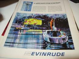 ANCIENNE PUBLICITE BATEAU MOTEUR EVINRUDE 1965 - Bateaux