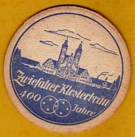 Sous-bock Cartonné - Bière - Allemagne - Zwiefalter Klosterbräu - Années 60 - Beer Mats