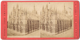 Stereo-Foto Griacoma Brogi, Firenze, Ansicht Mailand, La Cattedrale Dal Palazzo Reale - Photos Stéréoscopiques