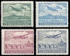 ** Czechoslovakia - 1946 - Mi. 497-500 - Air Post - Tchécoslovaquie