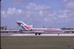 SLIDE / AVION / AIRCRAFT   KODAK  ORIGINAL      DOMINICANA  B 727  HI-312 - Diapositives