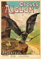 Cycle Postcard Aiglon Argenteuil 1900 - Reproduction - Pubblicitari