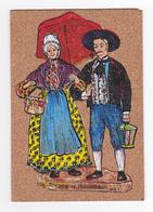 Carte Fantaisie Peinture Sur Liège N°24 Jordan Et Margarido Rayar à 06 Carros Non Voyagé Parapluie Costumes Folklore - Costumes