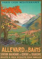 France Travel Postcard Allevard Les Bains 1920 - Reproduction - Pubblicitari