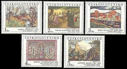 ** Czechoslovakia - 1984 - Mi. 2789-93 - Paitings - Tchécoslovaquie