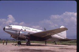 SLIDE / AVION / AIRCRAFT   KODAK  ORIGINAL     TALA COLOMBIA  C 46  HK-751 - Diapositives