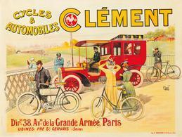 Automobile & Cycle & Motocycle Postcard Clément 1902 - Reproduction - Pubblicitari
