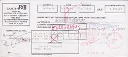 1982 - LETTRE DE CHANGE - SOCIÉTÉ JOB PERPIGNAN A L'ORDRE DE LA SOCIÉTÉ GÉNÉRALE - Lettres De Change