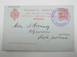 1906 , ALGECIRAS - Conferencia International , Tarjeta Postal ,  Knick - 1889-1931 Reino: Alfonso XIII