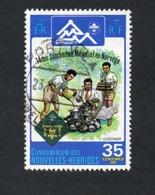 1975 JAMBOREE SCOUTS NORVEGE New Hebrides 35c Yvert Tellier No. 410 Timbre Usagee, Sans Charniere - Légende Française