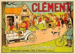 Automobile & Cycle Postcard Clément 1906 - Reproduction - Pubblicitari