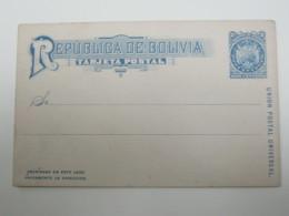 BOLIVIA , Tarjeta Postale  , Picture Printet On Backside - Bolivia