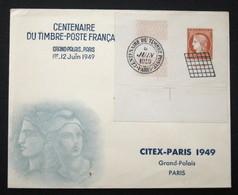 N° 841 CITEX 1949 Oblit Sur Enveloppe TB Cote 54€ - Used Stamps