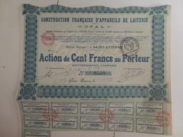 Action Construction Française D'Appareils De Laiterie - Agriculture